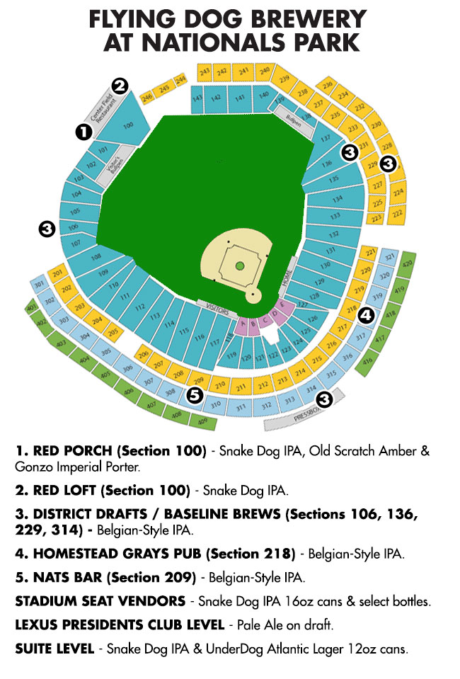 washington nationals starting firkin fridays flying dog brewery field to table diagram 2014_nats_ballpark_map